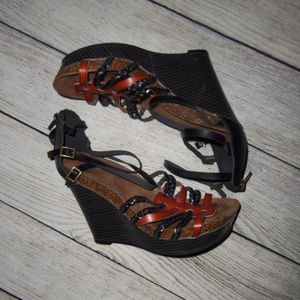 Cato Strappy Wedge Heels 7